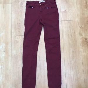 Zara TRF Maroon Jeans
